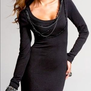 NWOT! Express Embellished Sweater Dress